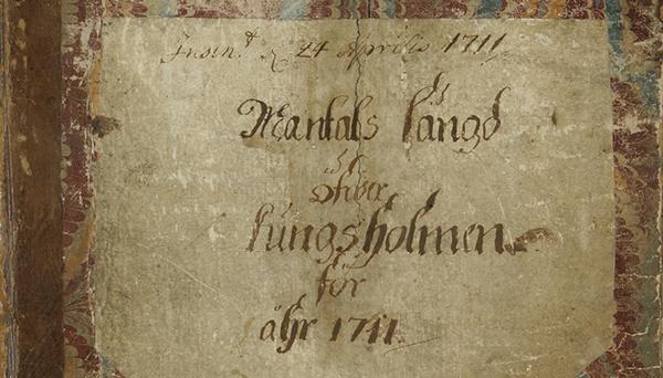 Framsida av mantalslängd 1711.