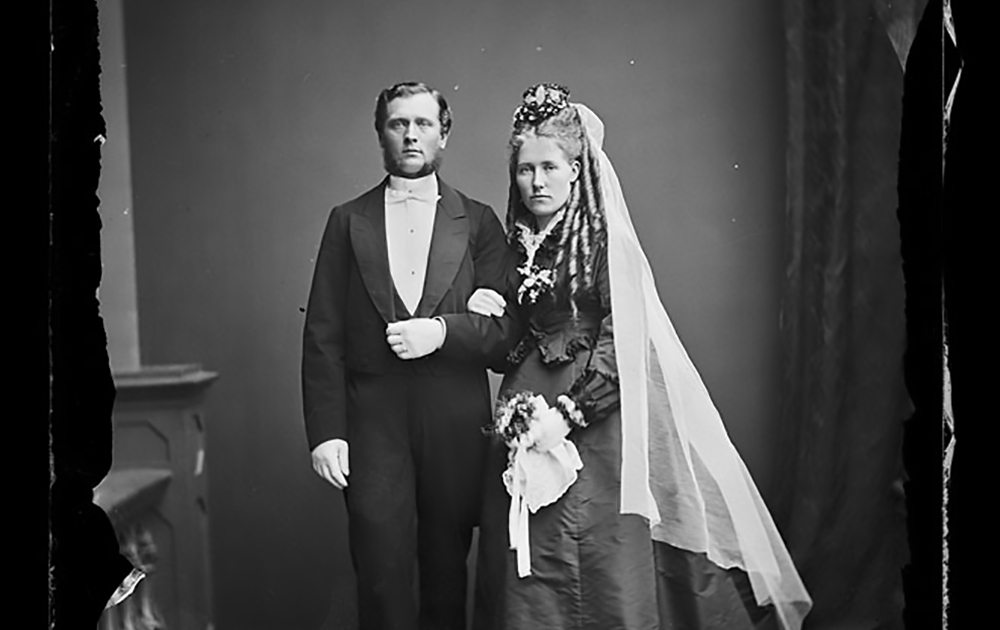 Brudpar från 1860-1870-talet.