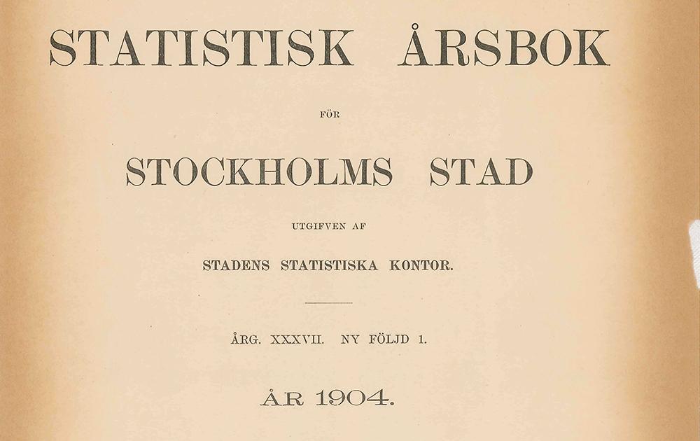 Titelsidan av den första Statistisk årsbok som gavs ut 1904.