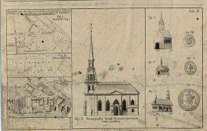 Detalj av församlingsritning 1791 över Tyska kyrkan i Gamla stan .