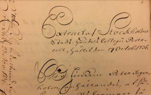 Burskapshandling 1736.