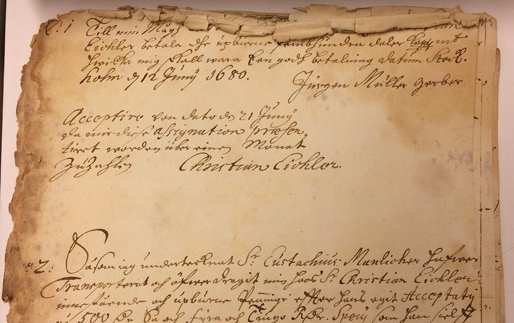 Civilakt från 1680.