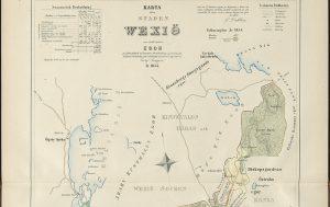 Karta över Växjö 1855.