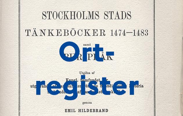 Framsidan till Stockholms stads första tänkebok 1474-1483 utgiven i tryck 1917.