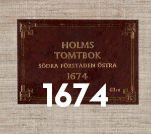 Titel från låda till Holms tomtbok 1674