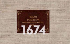 Holms tomtbok 1674.