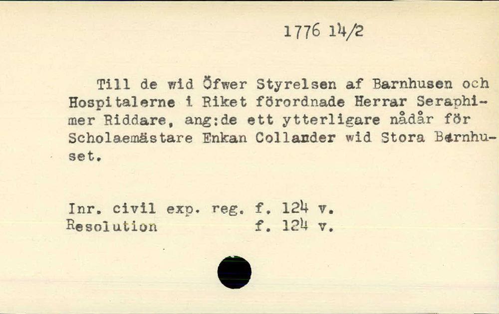 Exempel på registerkort.