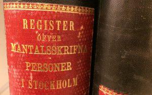Mantalsregister i Stockholm 1800-tal.